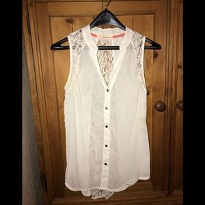 Lace creamy white dress tank size L